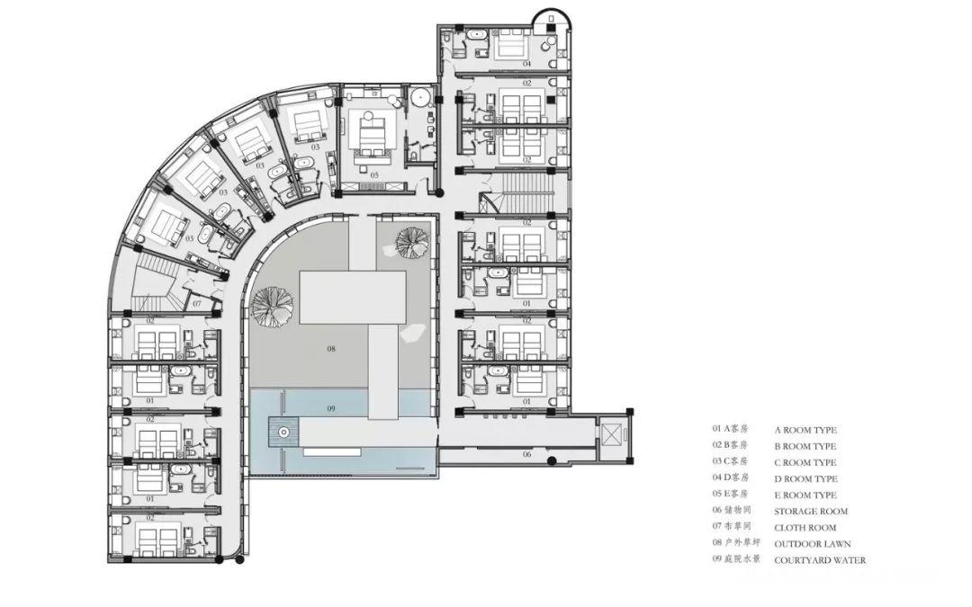 客房平面图