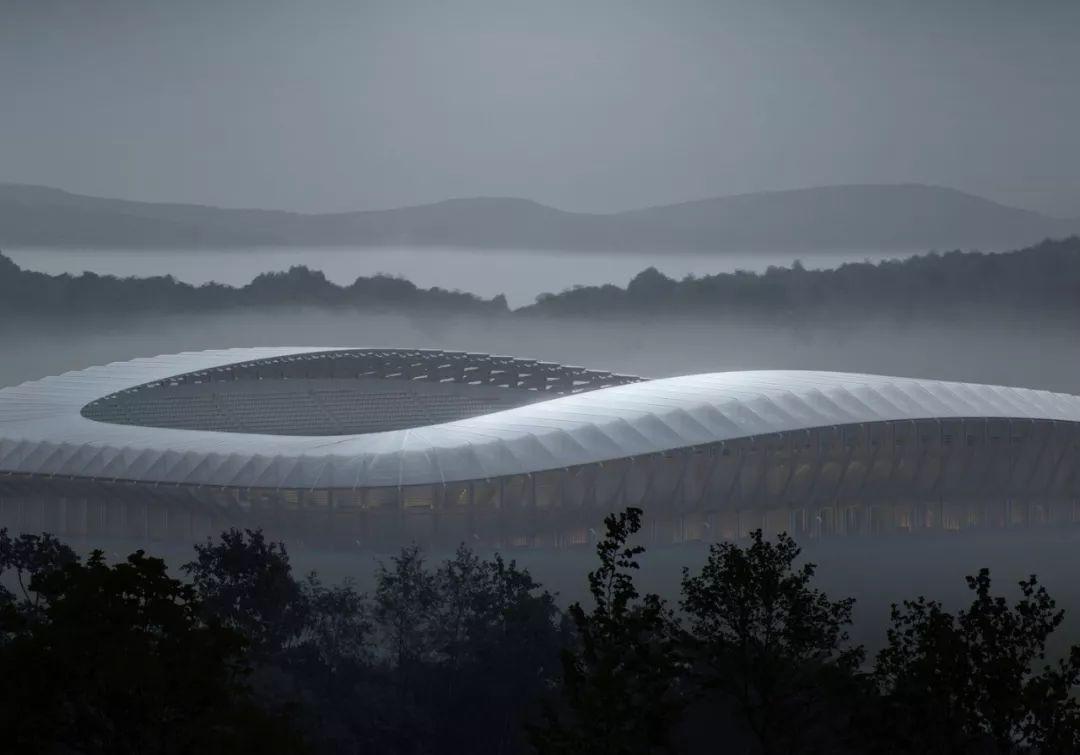 """世界最""""绿色建筑""""——扎哈事务所设计的英国全木体育场"""