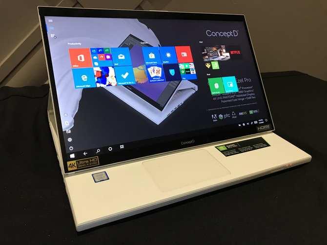 宏碁发布ConceptD 7 Ezel创意笔记本电脑 起售价为2699美元_Triton