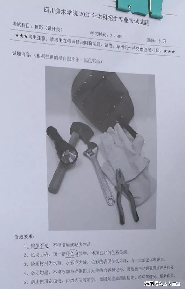 四川美术学院2020年校考-贵州考点试题