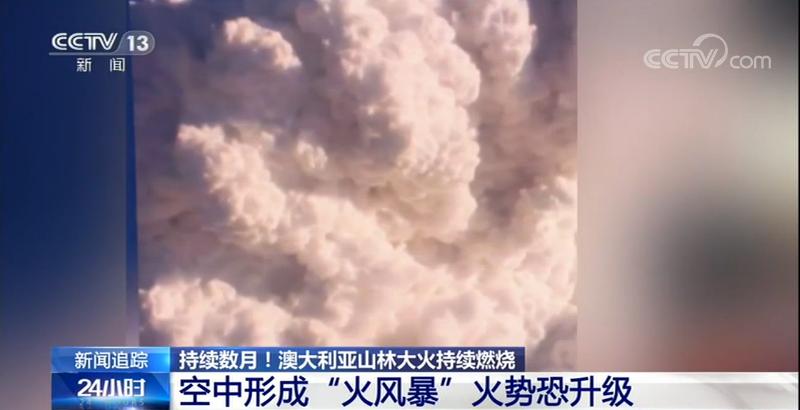"""澳大利亚林火在空中形成了""""火风暴""""  很有可能导致火势升级"""