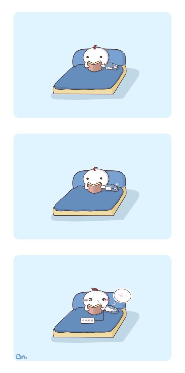冬天宝宝不想起床图片_卡通图片_三联