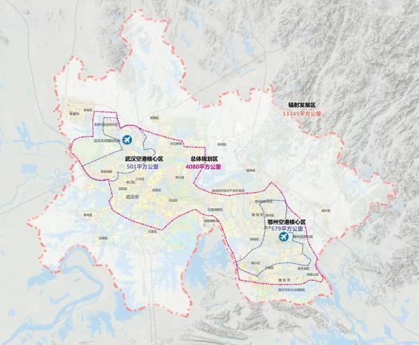 鄂州临空经济区规划图