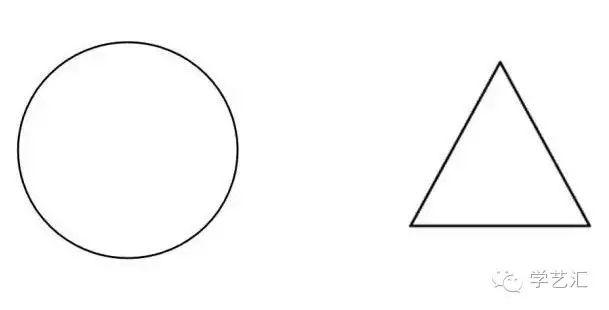 左手画圆,右手画三角形图片