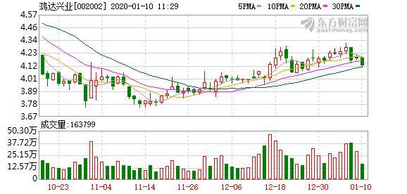 鸿达兴业:大股东质押500万股股票,占公司总股本0.19%