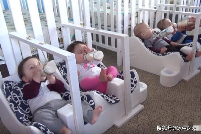想多要一个孩子,结果来了五个,为照顾五胞胎爸爸变身手工达人