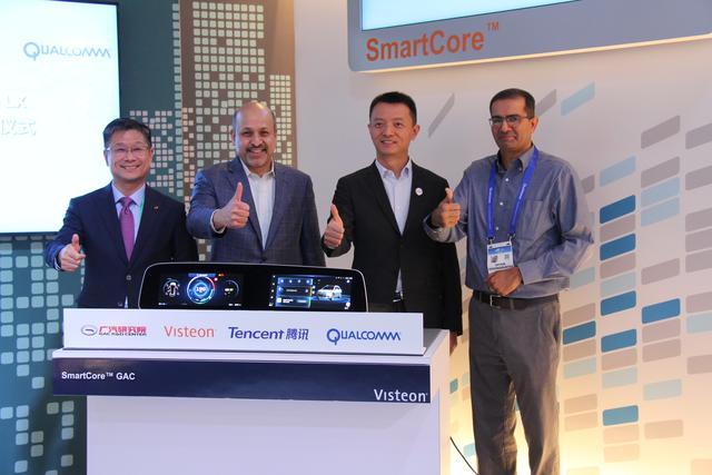 腾讯与伟世通、广汽合作落地,量产智能座舱SmartCore亮相CES