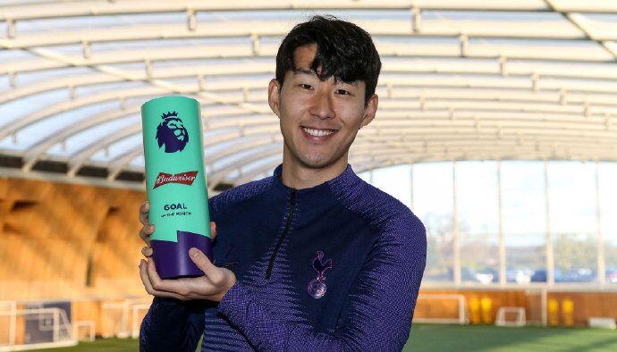 无悬念!官方:孙兴慜超级一条龙当选月最佳进球