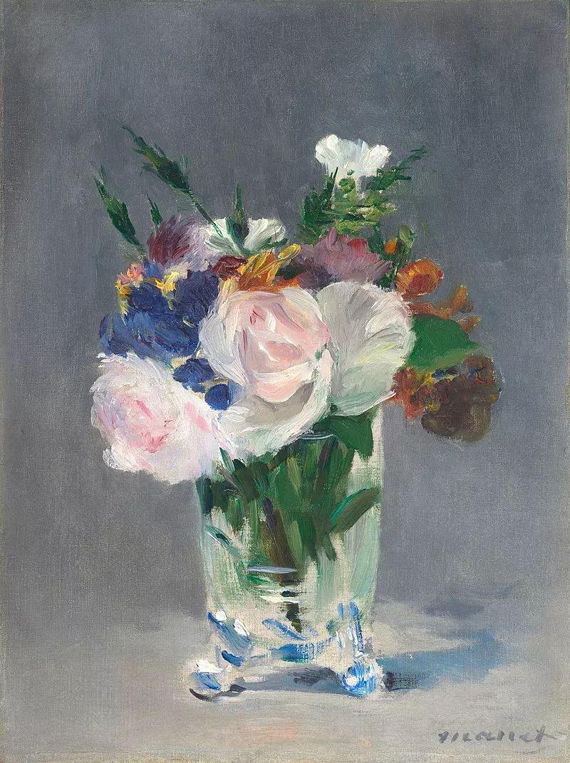《水晶花瓶里的鲜花》,1882