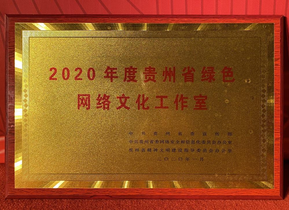 """020年度贵州省绿色网络文化工作室名单揭晓,贵州网(鼎道传媒)上榜"""""""