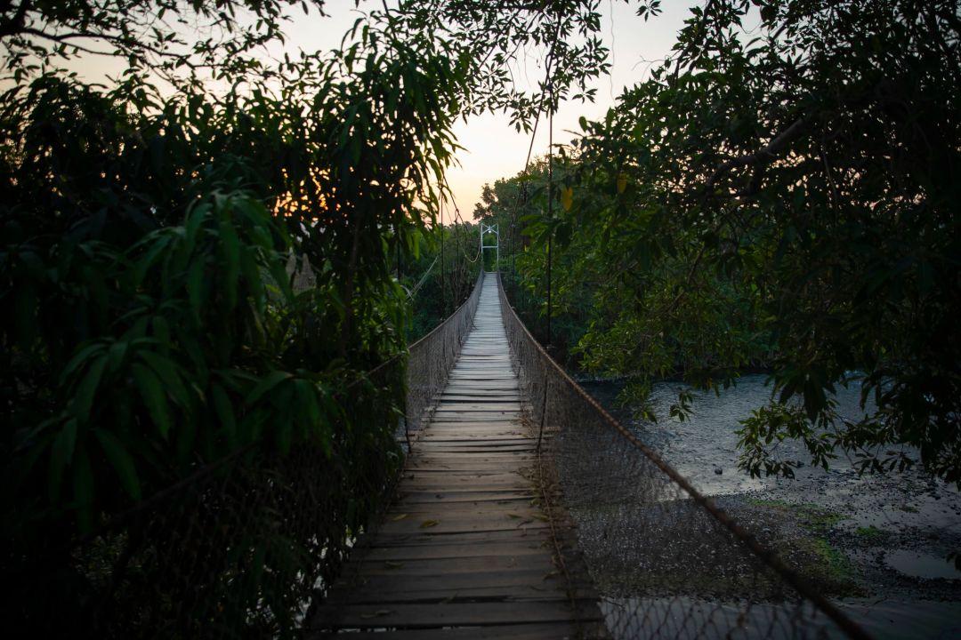 墨西哥 Morelos附近的一条小河,少年A曾弃尸于此