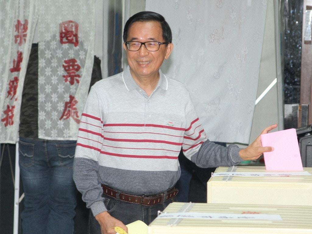 刚刚,陈水扁宣布,退出台湾政坛