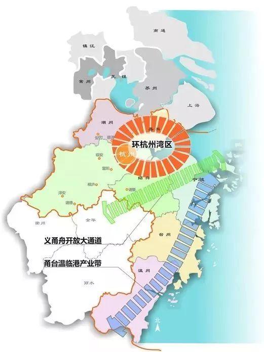 △浙江省大湾区规划图