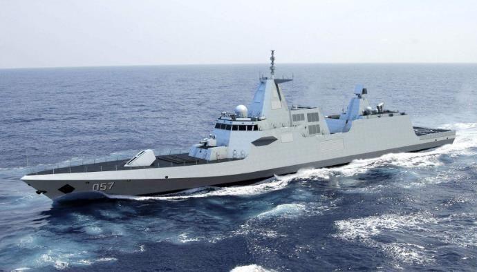 """最强航母战斗群_中国新型054B护卫舰,首次采用电力推进,成航母最强""""近身侍卫 ..."""