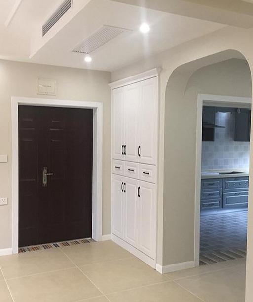140平新房硬装完工,家具还没进场,打扫干净后最满意全屋柜子!