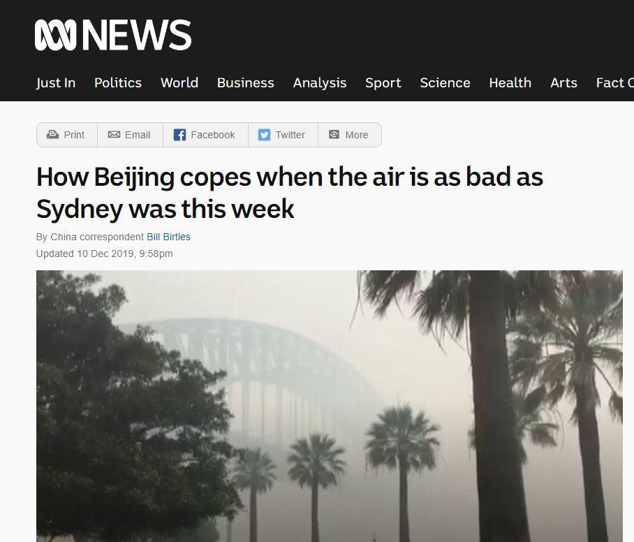 """没有澳大利亚这场大火,我们都不知道""""中国这么糟糕!"""""""