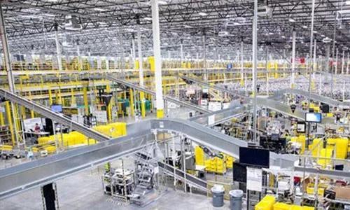 外资电商亚马逊在中国的一处仓储物流基地