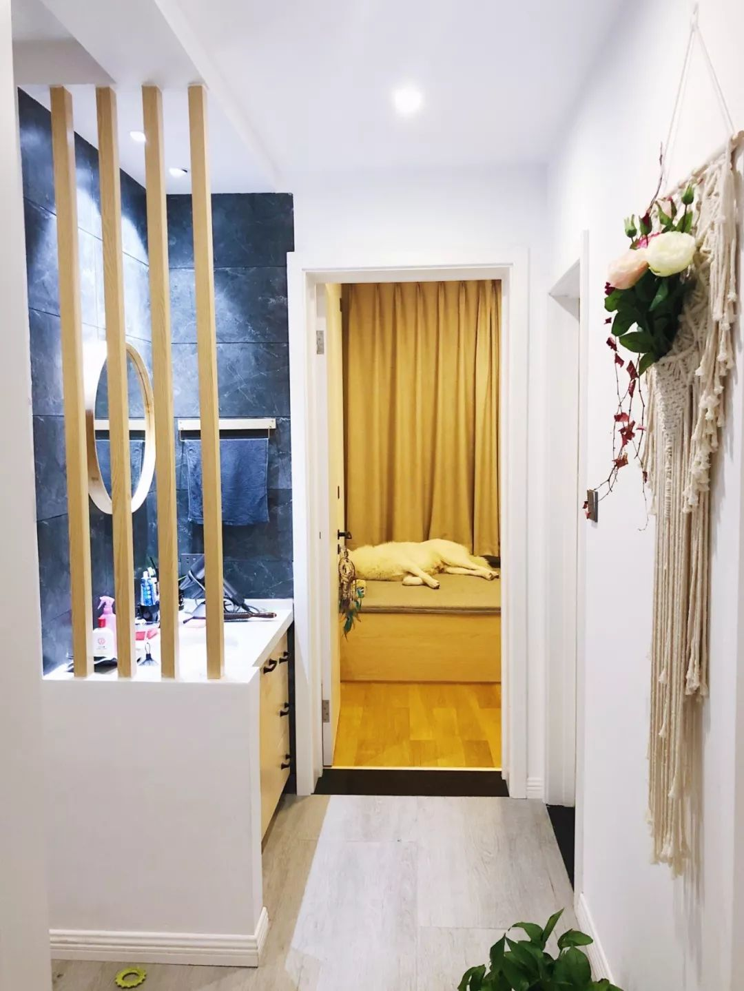 门槛石+压边条,地砖与木地板的过度,简洁美观又大气!