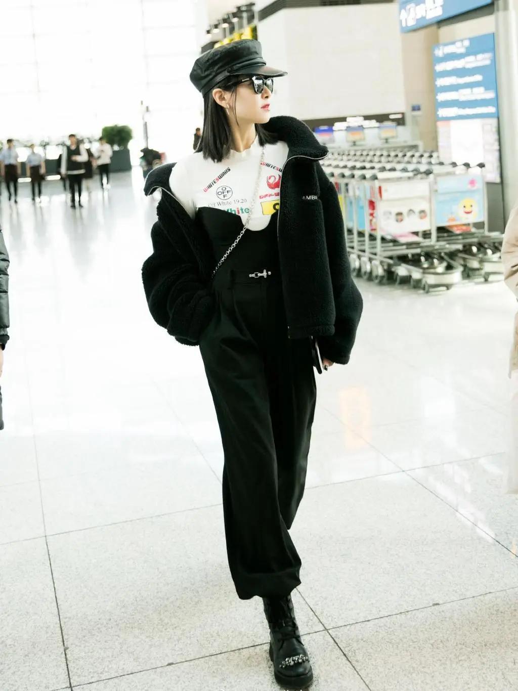 原创             宋茜现身韩国出席活动,露脐装配姜黄阔腿裤,纤细蚂蚁腰实力抢镜