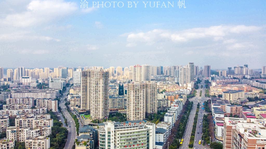 """<b>重庆最不像山城的远郊区,曾经""""其实一条街"""",如今颇具大城风范</b>"""