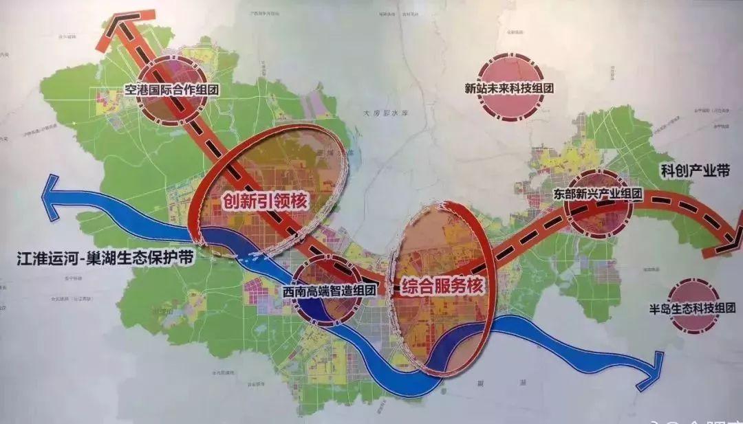 合肥运河新城规划图