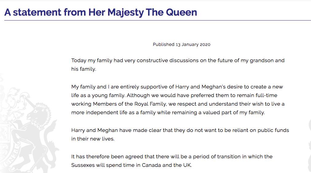 英女王支持哈里和梅根追求独立新生活,威廉哈里否认不和