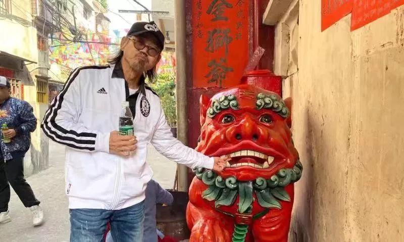 """""""包租公""""元华老师到揭阳拍电影了!"""