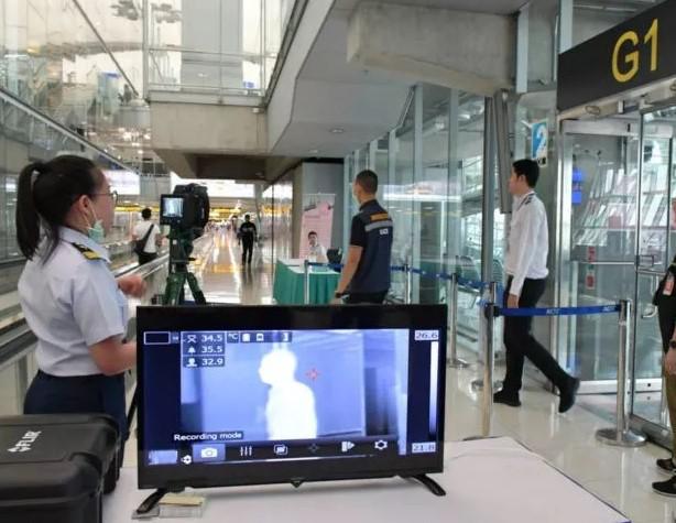 各大机场增设红外测温仪监测人体体温