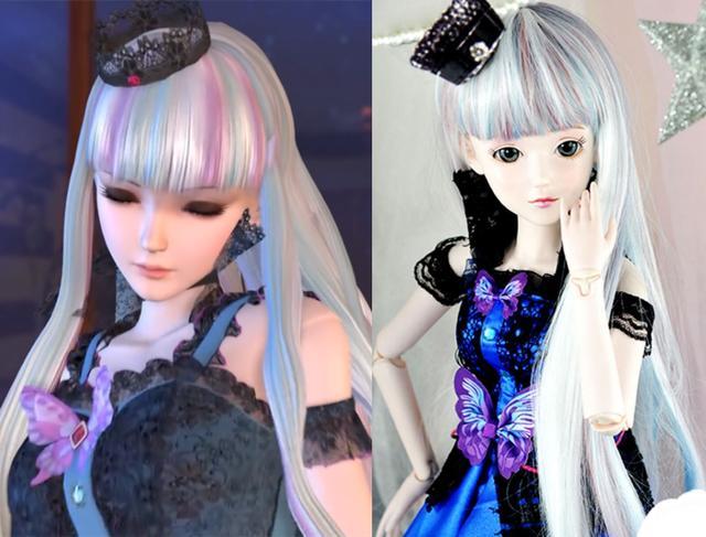 当叶罗丽变成了现实版娃娃,白光莹神还原,文茜美出新高度