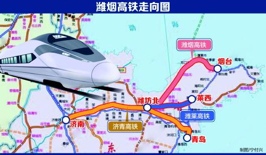 青岛境内再添一条高铁 潍烟高铁今年开建时速350公里