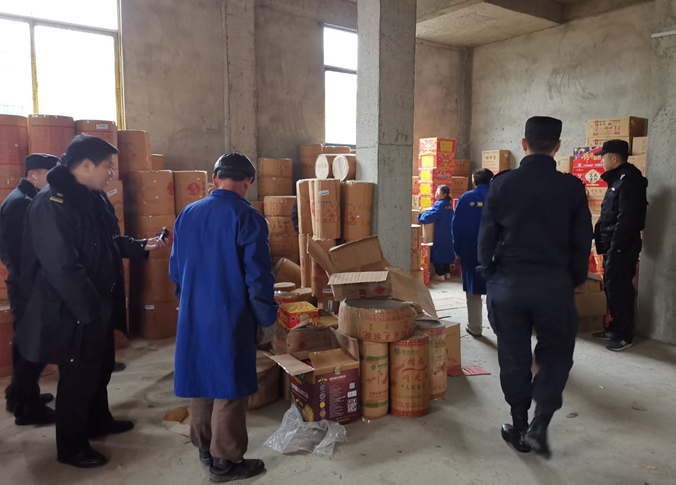 阳新县多部门在荻田、浮屠联合打击查处10余万元不合法烟花爆竹