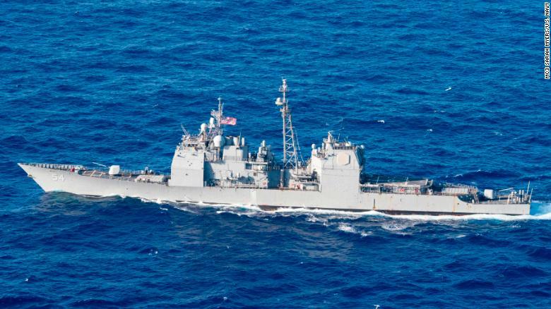 美舰昨日又过台湾海峡