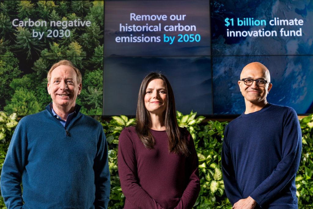 微软希望 2050 年前捕获其曾经排放的所有二氧化碳
