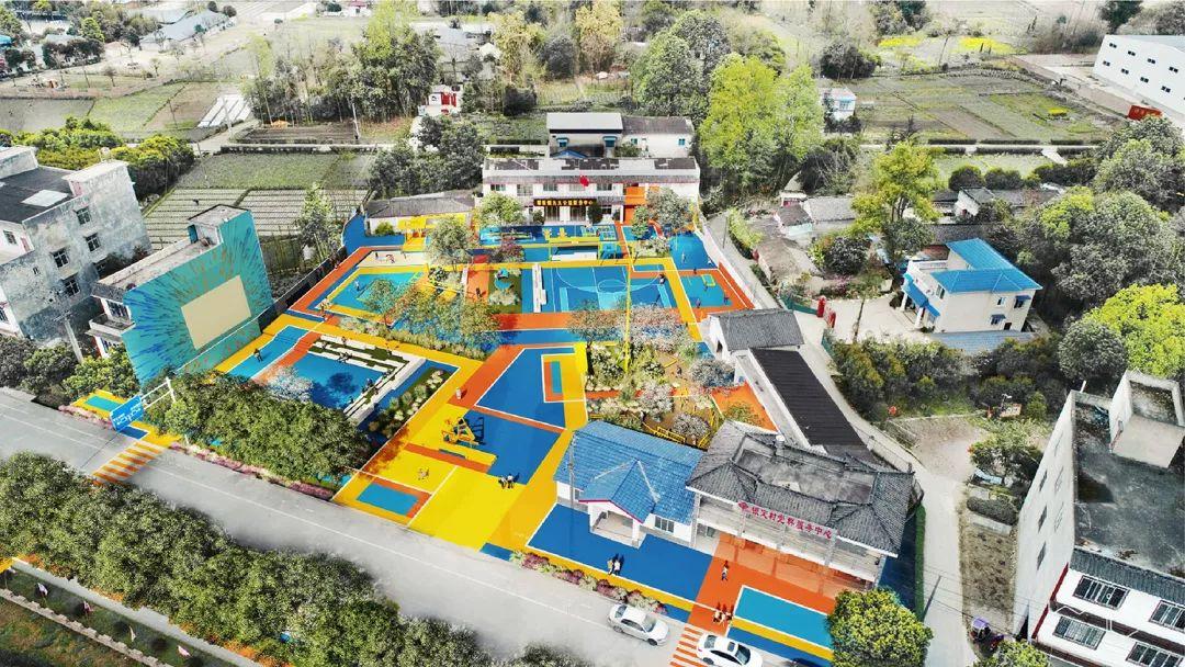 乡村广场变身18种玩法的网红打卡圣地!谁说农村不能有好设计?