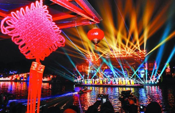 第34届中国·秦淮灯会亮灯 设九大展区