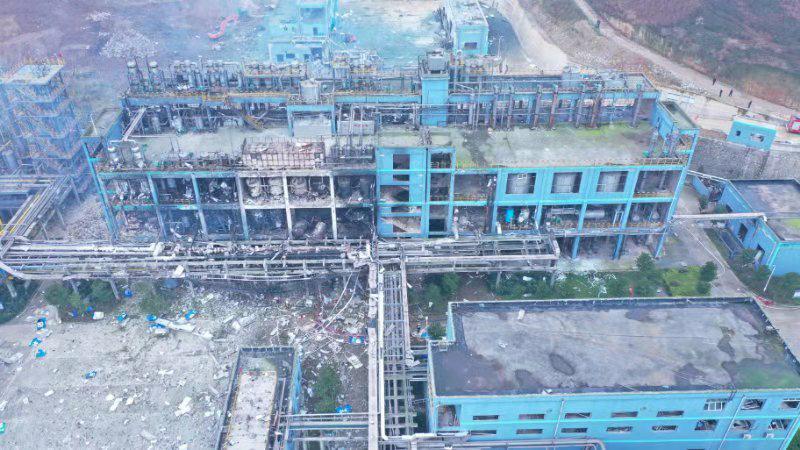贵州福泉化工厂燃爆系生产装置发生硫醚燃烧引起