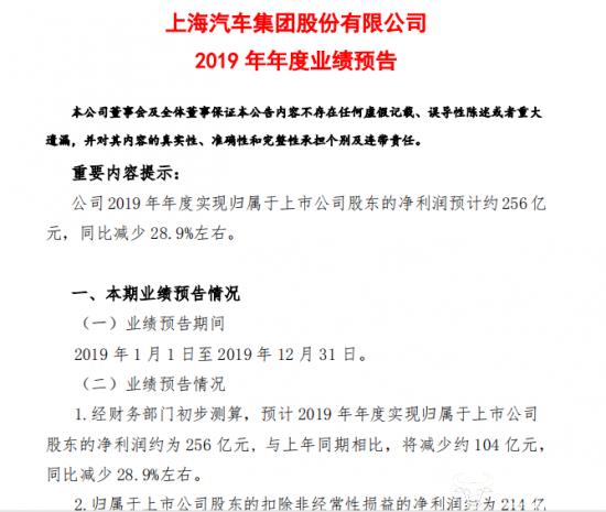 """姊妹情深上汽集团十年首次遭遇""""滑铁卢""""发布"""