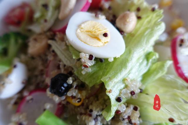 酸奶藜麦沙拉,清淡解腻爽口,特别适合春节期间食用