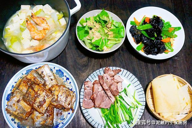 春节前最后一个周末,晚餐四菜一汤,营养丰富,好吃不油腻
