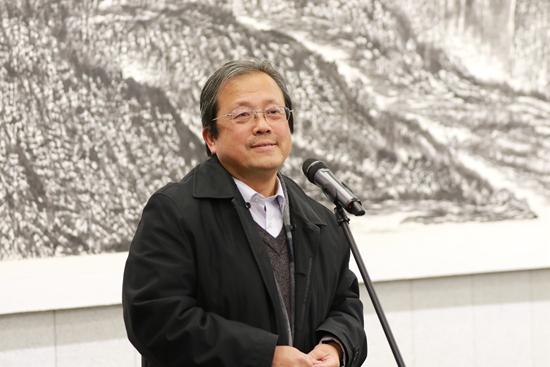 """""""天地大美""""和爱君山水画展在京开幕"""