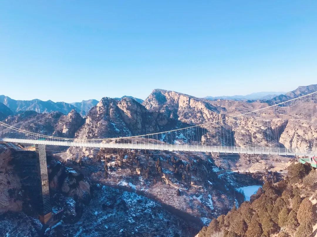 清凉谷春节钜惠!免费登玻璃天桥、玻璃栈道和水