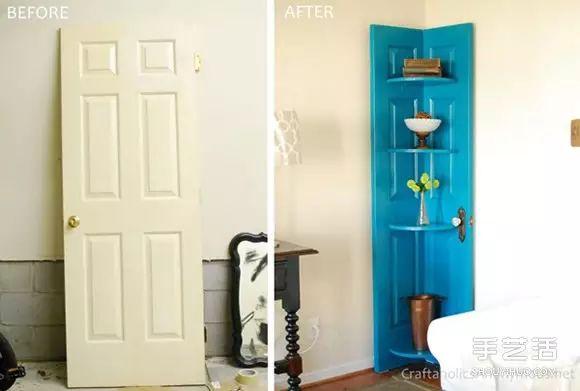 旧门板改造转角柜的方法 转角柜手工制作方法200120