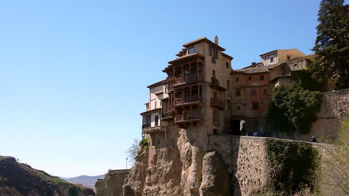 """原创            西班牙昆卡被称为悬崖上的天空之城,它也被称为""""中了魔法的城市"""""""