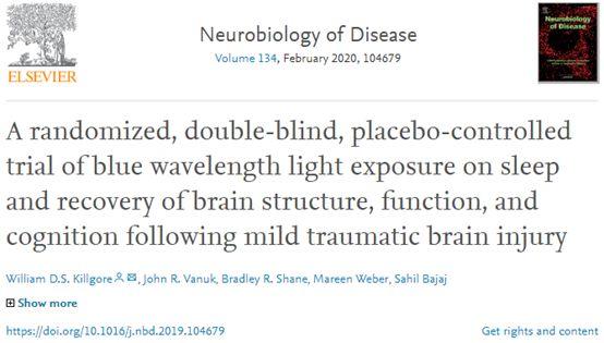 【蓝光还能改善睡眠?科学家发现,照射蓝光能让轻微脑损伤患者睡得更好】