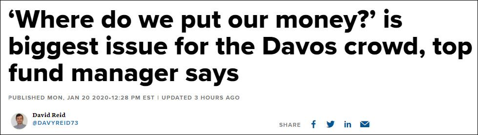 本屆達沃斯富豪最大煩惱:錢投哪兒?