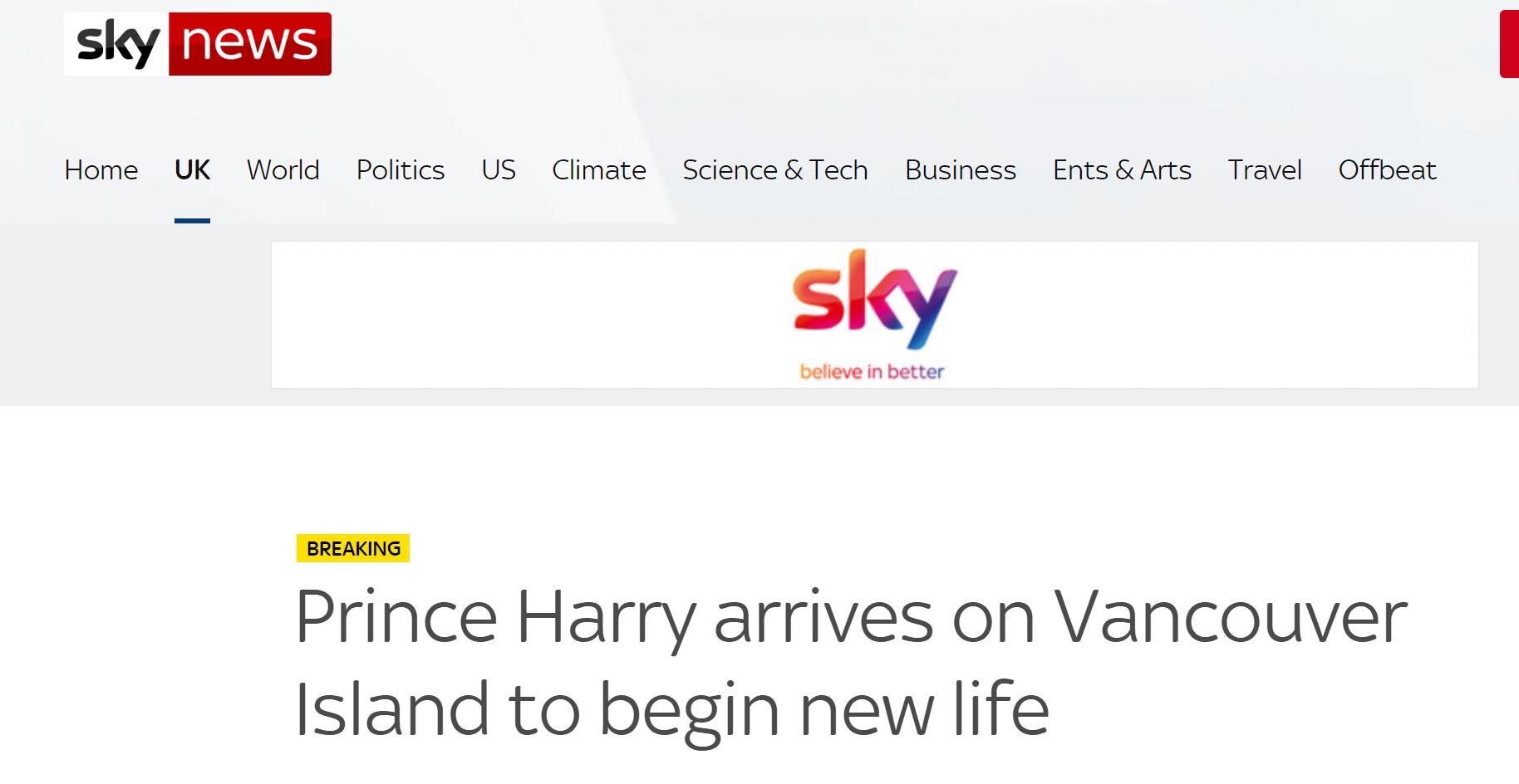 快讯!哈里王子已经抵达加拿大