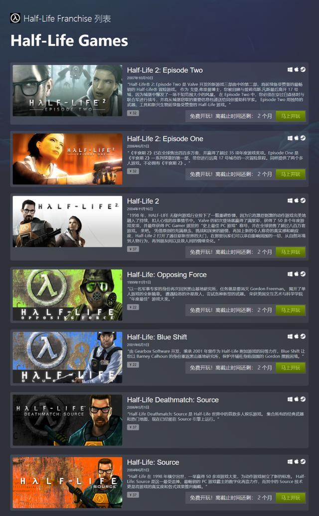 《Alyx》发售前《半条命》全系列Steam限时免费玩
