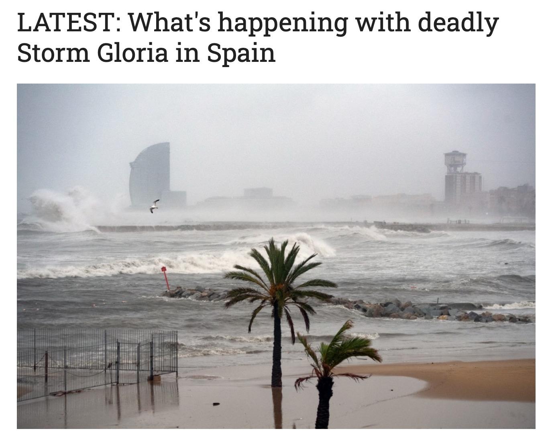 西班牙遭遇30年来最强暴风雨雪,至少9人死亡