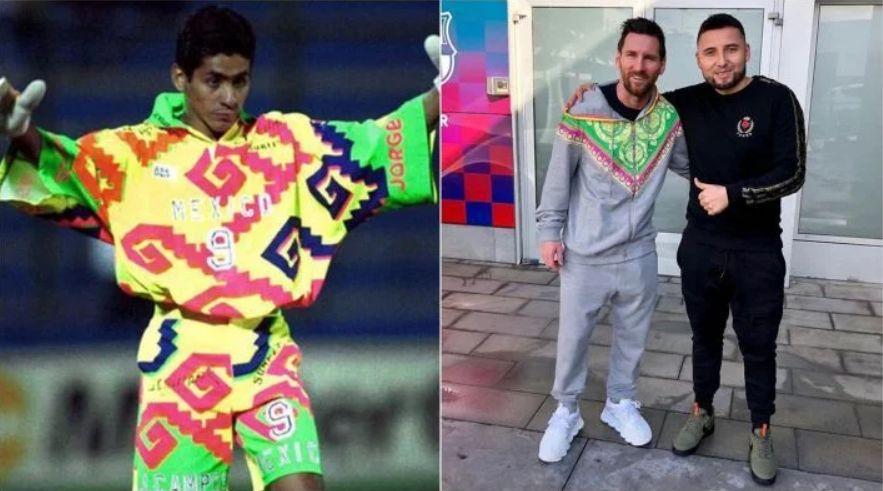 原创             梅西的夹克仿效墨西哥传奇守门员—花蝴蝶坎波斯