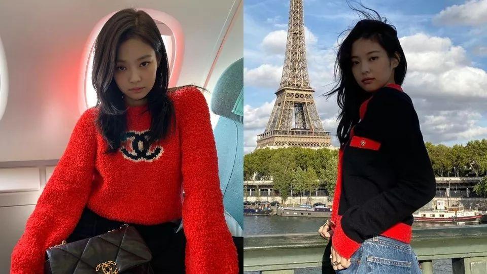 韩星新春'开运红'穿搭图鉴!泰妍、允儿、Jennie红色私服范本